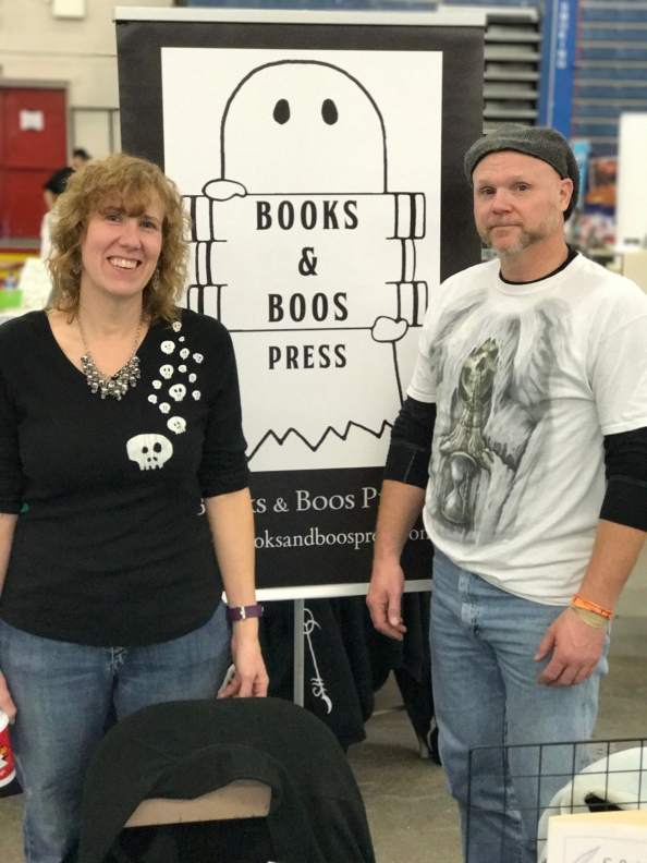 Authors Stacey Longo and Rob Smales at Northeast Comic Con.