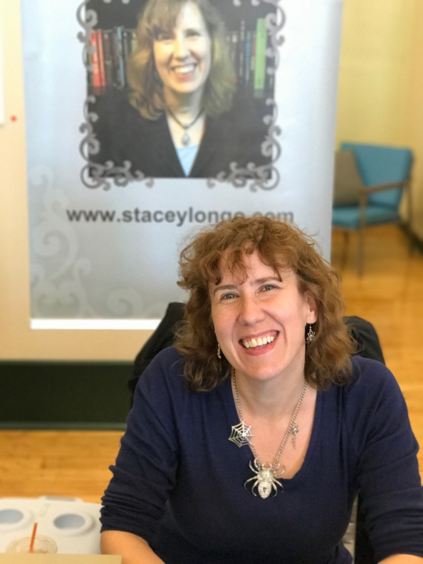 Author Stacey Longo at the New Bedford Book Festival.